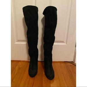 Steve Madden Black over the Knee Boots Size 8